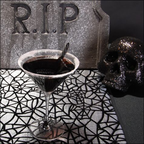 Deliciously evil vodka cocktail for halloween.