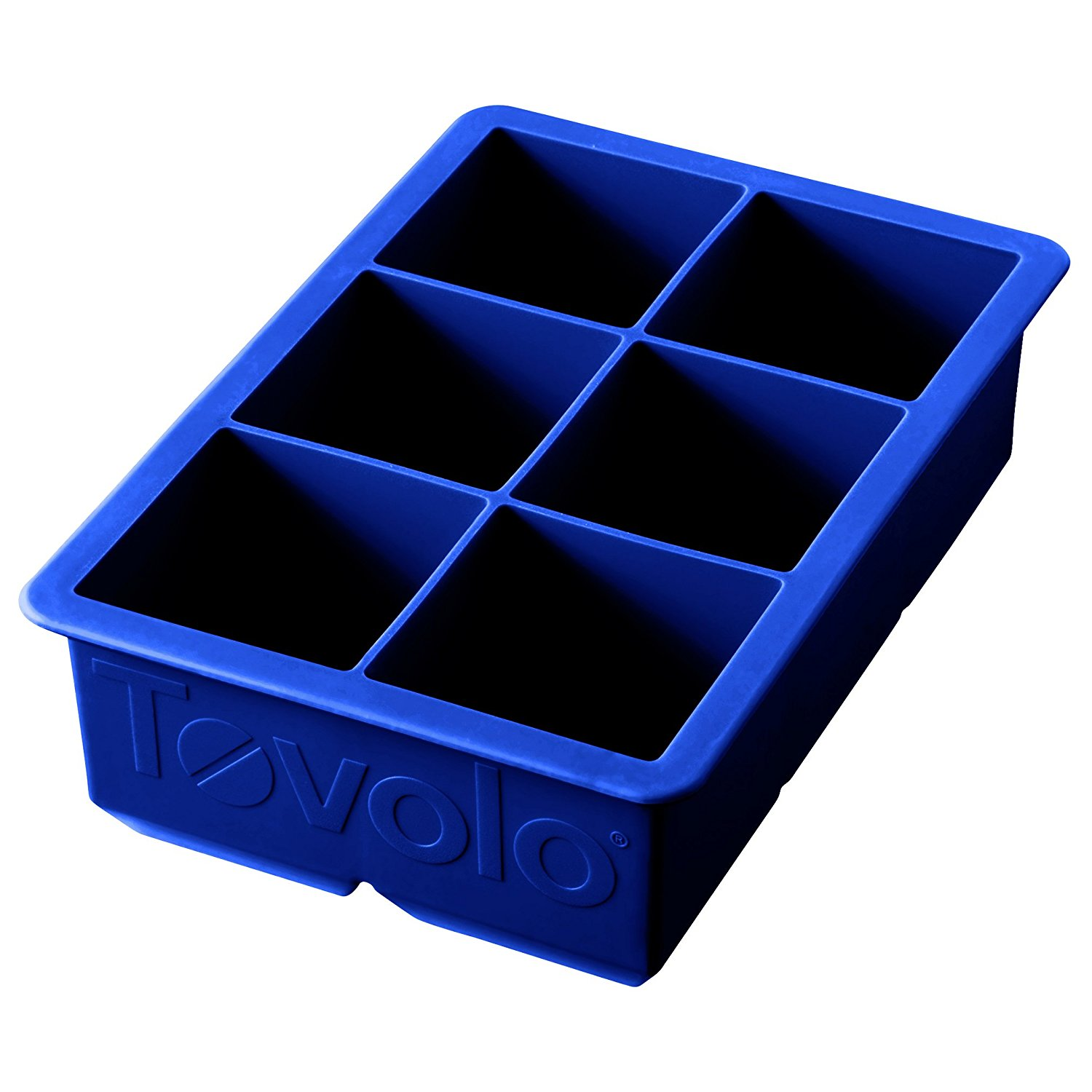 tovolo king cube ice tray stratus blue cocktail. Black Bedroom Furniture Sets. Home Design Ideas